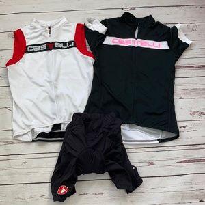 Casttelli 2 Cycling Jerseys & Padded Bike Shorts